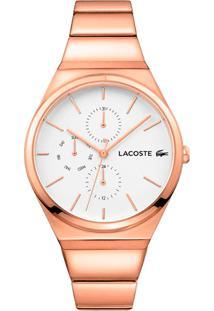 1afa7260608 Vivara. Relógio Lacoste Feminino Aço - Rosé 2001036