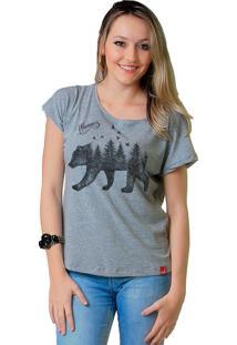Camiseta Wevans Urso Forest Cinza