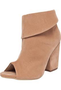 Ankle Boot Fiveblu Salto Grosso Nude