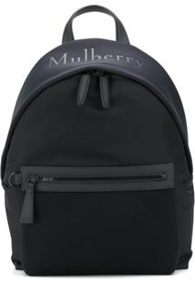 Mulberry Mesh Detail Backpack - Preto