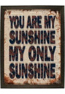 Quadro Decorativo De Parede Sunshine Com Moldura - Unissex