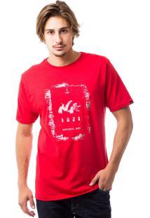 Camiseta Natural Estampa Vermelha