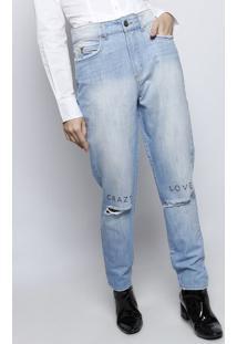 Jeans Reto Crazy Love- Azul Claro- Colccicolcci