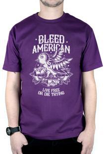 Camiseta Bleed American Swallow Roxo