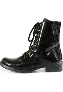 Bota Vegano Shoes Antúrio Cano Alto Preta