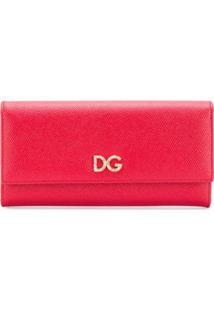 Dolce & Gabbana Carteira De Couro Com Logo - Vermelho
