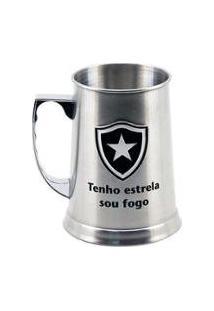 Caneca Inox Chopp 420Ml Botafogo - Unissex