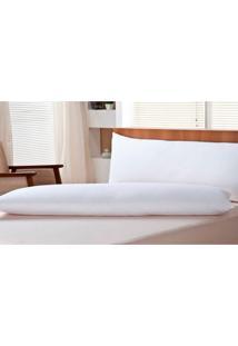 Travesseiro Body Pillow Pena De Ganso Branco 50X150