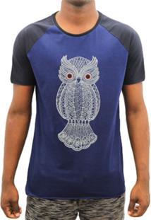 Camiseta Melty Owl Estampa Coruja Azul