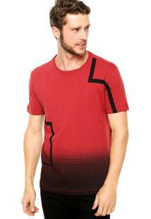 Camiseta Manga Curta Calvin Klein Jeans Estampada Vermelha