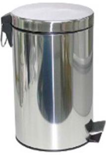 Lixeira De Inox 20 Litros Com Pedal Coisas E Coisinhas