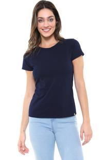 Blusa Lunender Básica Azul-Marinho