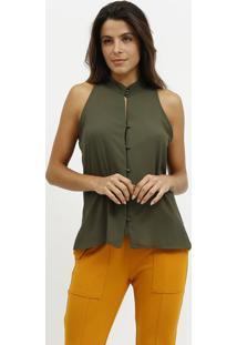 Camisa Com Botãµes - Verde- Milioremiliore
