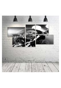 Quadro Decorativo - Bob-Marley-Music - Composto De 5 Quadros