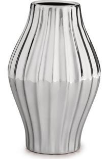 Vaso Metalizado- Prateado- 17Xã˜11Cm- Martmart