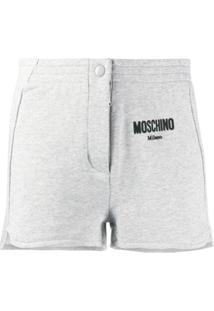 Moschino Short Com Logo - Cinza