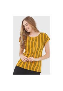 Blusa Malwee Geométrica Amarela