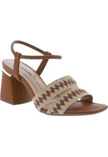 Sandalia Dakota Salto Geometrico Tiras Caramelo Ca