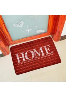 Capacho Carpet Home Vermelho