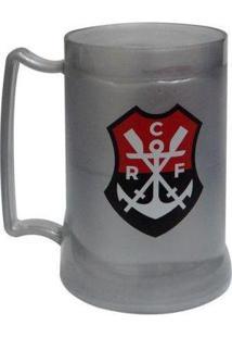 Caneca Gel Flamengo Crf Prata Brasão - Masculino-Branco