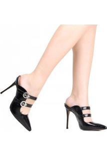 Sapato Zariff Mule Salto Alto Fivela