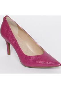 Scarpin Em Couro Com Tag - Pink - Salto: 8Cmjorge Bischoff