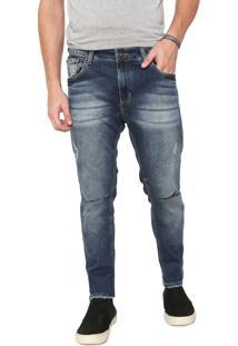 Calça Jeans John John Skinny Destroyed Azul