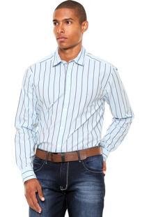 Camisa Wrangler Listras Azul