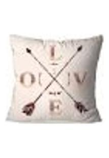 Capa De Almofada Avulsa Decorativa Love 45X45Cm