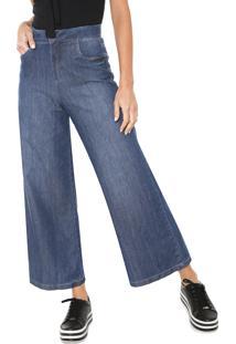 ... Calça Jeans Colcci Pantalona Pespontos Azul 2146c5e18b