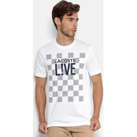 2a2328deb83f2 Camiseta Lacoste Live Estampada Masculina - Masculino