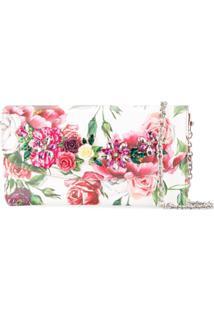 Dolce & Gabbana Clutch De Couro Com Estampa De Peônias - Estampado