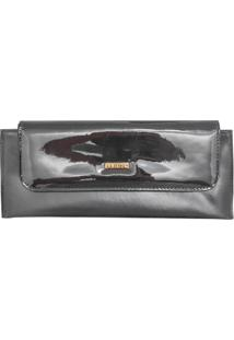 Bolsa Carteira Corazzi Leather Deluxe Clutch Preta