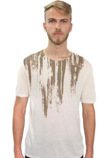 Camiseta Klauk Destroyed Bege