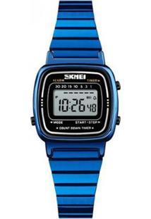 87582e13b3d Relógio Digital Azul Digital feminino