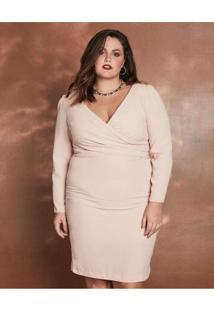 Vestido Almaria Plus Size Pianeta Curto Transpasse