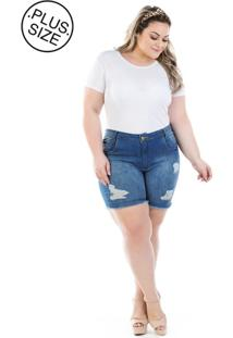 Short Jeans Plus Size - Confidencial Extra Destroyed Shakira