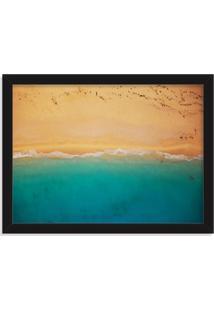 Quadro Decorativo Praia E Areia Preto - Médio