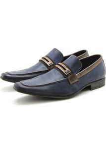 Sapato Perlatto 1865 Jeans Azul