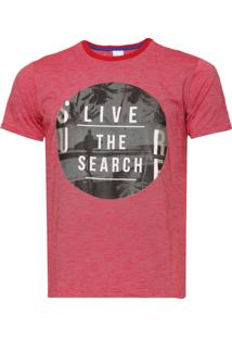 Camiseta Malwee Estampada Vermelha