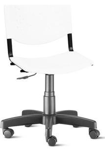 Cadeira Prisma Brasil Giratória Branca Plástica