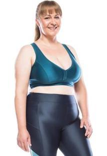 Top Fitness Plus Size Plus Color Feminino - Feminino-Verde Escuro