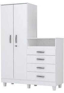 Guarda-Roupa Infantil 2 Portas Com Cômoda Line Flex - Lc Móveis