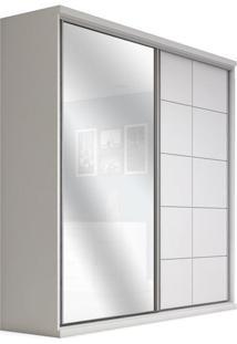 Armário 2 Portas De Correr Com Espelho, Branco, Safira