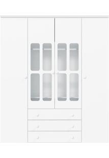 Guarda-Roupa 4 Portas Delicato Branca-Brilho Matic Móveis
