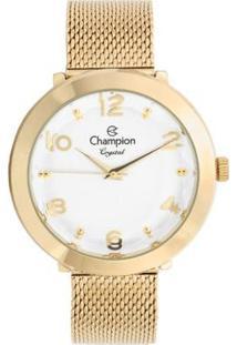 Relógio Champion Analógico Cn25207H Feminino - Feminino-Dourado