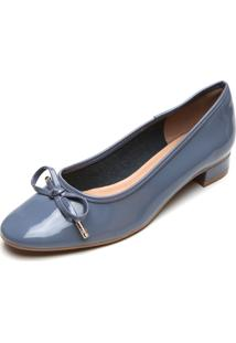 Scarpin Petite Jolie Verniz Azul-Marinho - Azul Marinho - Feminino - Dafiti