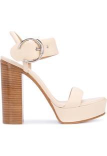 Chloé Sandália Com Plataforma - Branco