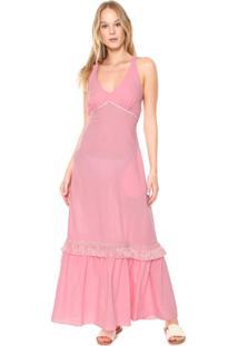 Vestido Clube Bossa Longo Marrakesk Rosa