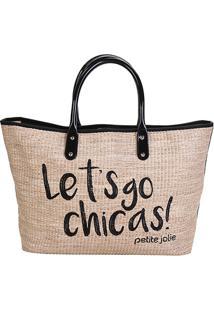 Bolsa Petite Jolie Shopper Sam Bag Feminina - Feminino-Preto